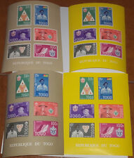 TOGO SCOUT MOVEMENT 1961 4 MINISHEET OF 6 STAMPS IMPERFORATED 2 COLORS