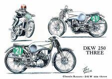 DKW 250 Triple TT Racer Motorbike Motorcycle Blank Birthday Card