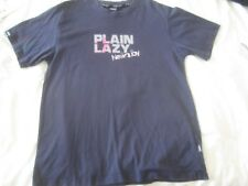 "Mens size L 44"" navy blue Plain Lazy in Newquay T-Shirt top short sleeves"