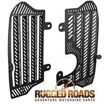 Rugged Roads Radiator Guards - Black - 2016+ Honda CRF1000L Africa Twin