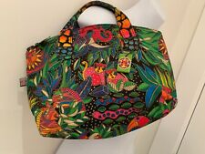Laurel Burch bag jungle cat parrot monkey signed tags new?
