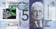 Schottland / Scotland Clydesdale Bank 5 Pounds Sterling 2015 (1) Polymer