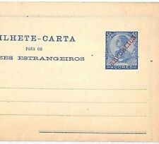 Vv174 Portugal Colonies Azores 1911 Republica 50c Letter Card {samwells-covers}