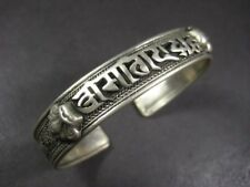B431 Ethnic Cuff Nepali Script OM Mantra Filigree Dragon Bracelet FASHION Tribal