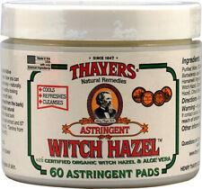 Witch Hazel Pads, Thayers, 60 piece