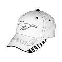 Ford Mustang Bill Edge White Baseball Cap Baseball hat Official Licensed