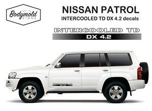 Nissan Patrol INTERCOOLED TD DX 4.2 decals