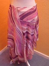 LUXUS SOMMER SEIDEN ESCADA COUTURE Rock skirt pink lila 40/42 Hochzeit laurel