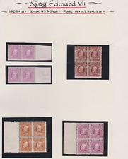 New Zealand 1909/16 MNH & Mint Mounted Page of BLOCKS & PAIRS Cat £395