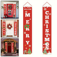 AU Merry Christmas Banner Wall Hanging Door Curtain Home Party Decorations