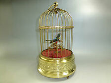 EXC ANTIQUE GERMAN K.G. SINGING BIRD CAGE AUTOMATON MUSIC BOX  (WATCH THE VIDEO)