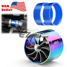 "Mi2KA Air Intake Fuel Gas Saver Single Fan System Turbo 2.5""-3.0"" Neo Chrome"