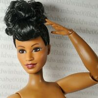 (S52) ~ NUDE BARBIE RAVEN AA ELLA FITZGERALD CURVY ARTICULATED DOLL FOR OOAK