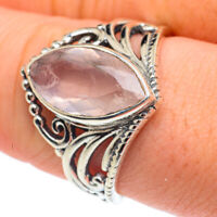 Rose Quartz 925 Sterling Silver Ring Size 9 Ana Co Jewelry R61559F