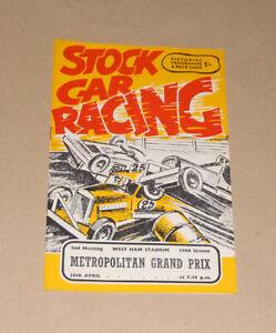 1966 West Ham Brisca F1 stock car programme, 30 April (Metropolitan Grand Prix)