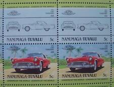 1955 FORD THUNDERBIRD T-BIRD Car 50-Stamp Sheet / Auto 100 Leaders of the World