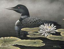 "5 ""Serenity Loon"" 30x16 Canvas Print by Robert Metropulos"