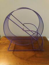 Giant 11 inch Run Around Hamster Exercise Wheel Blue Wire Mesh