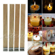 10Pcs 12.5mm x 150mm Candle Wood Wick with Sustainer Tab Candle Making Supply