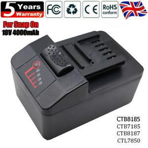 Upgraded Snap on 4.0Ah 18V Replace Battery CT8850 CTB8185 CTB7185 CTB8187 CT7850