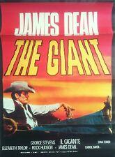Original  GIANT MOVIE POSTER  (  South African  )  James Dean  Elizabeth Taylor