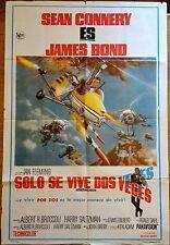 YOU ONLY LIVE TWICE (1967) ORIGINAL ARGENTINA MOVIE POSTER - JAMES BOND 007