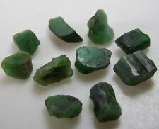 51.00ct Brazil 100% Natural Raw Rough Uncut Emerald Crystal Specimen 9-15mm 10g