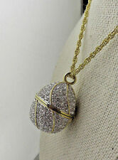 Jeweled Crystal Egg Watch Pendant with chain Suzanne Somers HSN N8404