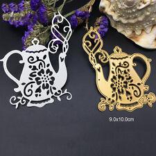 Milk Tea Pot Metal Cutting Dies Stencil Scrapbooking Card Paper Embossing Craft