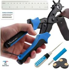 Leather Hole Punch Belt Maker Adjustable Puncher Punching Pliers Heavy Duty Tool