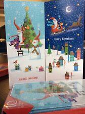 Cartes de Noël écureuil porte Santa Hat pack de 10 avec enveloppes de Charité de Noël
