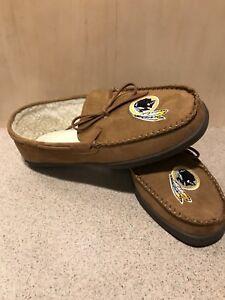 Washington Redskins NFL Men's Logo Moccasin Slippers, Size Small (7/8) - NWT