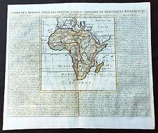 1719 Chatelain Large Original Antique Map of Africa - Beautiful