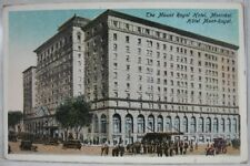 1900's Mount Royal Hotel Montreal Stamps Postmark Canada