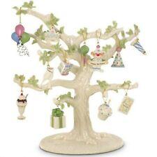 Lenox Happy Birthday Miniature Tree Ornaments Set of 12 Cake Hat Balloons New
