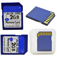 2GB 2G SD Memory Card Storage for Camera Laptop Music, Data, Photos, and Video