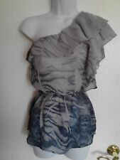 Ladies One Shoulder Summer Blouse Size PS By Forever 21