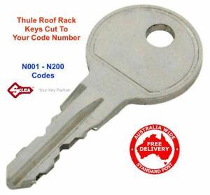 """Thule Roof Rack Key & Ski Rack Keys """"N"""" Series Replacement Key N001 To N200"""