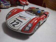 Joustra (France) White/Red Porsche 906 Carrera Speeder Tinplate/Friction 1:15