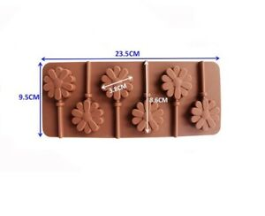 KitchenCraft SweetlyDoesIt Silicone Chocolate Flower Lollipop Mould SDILOLCMFLR