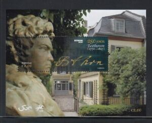 PORTUGAL Ludwig van Beethoven MNH souvenir sheet