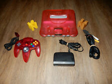 NTSC-JAP N64: Clear Red Nintendo 64 Console with Controller JAPAN ONLY