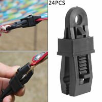 24Pcs Camping Tent Tarp Tarpaulin Awning Buckle Fixing Clips Gripper Reusable UK