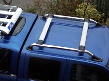 Kit De Barra Techo Rack Para Nissan Navara D22 Cromo Outlaw Camioneta Doble Cabina