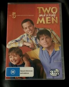 Two And A Half Men : Season 5 (DVD, 2009, 3-Disc Set) Very Good Condition R4