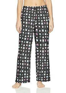 Hue Women's Plus Printed Knit Long Pajama Sleep Pant 2X Cats Black Free Ship NWT