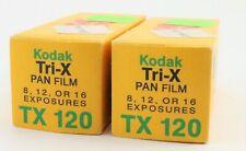 2 Rolls KODAK TRI-X PAN B&W PRINT FILM TX 120  EXPIRED DEC 1976
