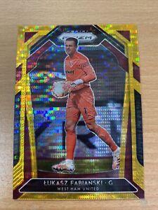 2020-21 Panini Prizm Premier League Lukasz Fabianski 07/10 Gold Prizm West Ham