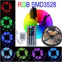 5M 3528 RGB 60Led/m SMD Flexible Light Strip Lamp&44 key IR&12V 2A Power Supply