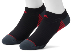 Adidas Athletic Socks Mens Black No Show 2 Pairs Climalite Superlite Cushioned